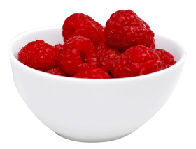Raspberry in Bowl PNG
