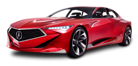Red Acura Precision Car PNG