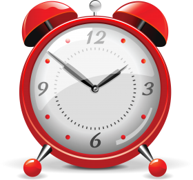 Red Alarm Clock PNG