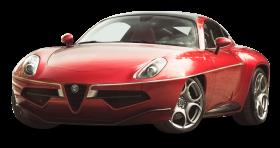 Red Alfa Romeo Disco Volante Car PNG