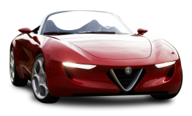 Red Alfa Romeo Super Car PNG