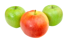 Red and Green Apples PNG