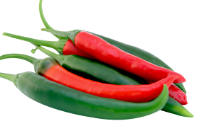 Red and Green Chilli Peppers PNG