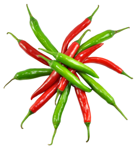 Red and Green Chilli PNG