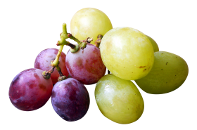 Red and Green Grapes PNG
