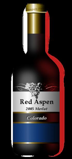 Red Aspen Bottle PNG