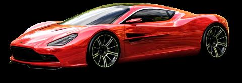 Red Aston Martin DBC Car PNG
