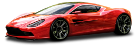 Red Aston Martin DBC Car PNG