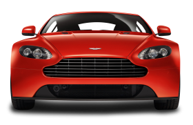 Red Aston Martin V8 Vantage Front View Car PNG