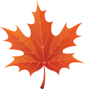 Red Autumn Leaf ClipArt PNG