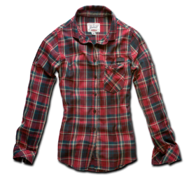 Red Casual Check Full Shirt PNG