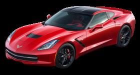 Red Chevrolet Corvette Stingray Top View Car PNG