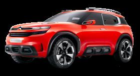 Red Citroen Aircross Car PNG