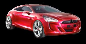 Red Citroen Car PNG