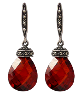 Red Diamond Earrings PNG