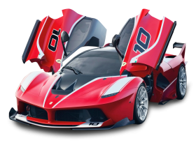 Red Ferrari FXX K Car PNG