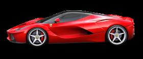 Red Ferrari LaFerrari Car PNG