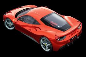 Red Ferrari Top View Car PNG