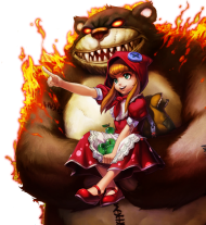 Red-Hat Annie with Tibbers skin PNG