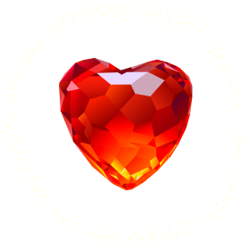 Red Heart Diamond PNG