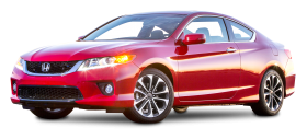 Red Honda Accord EX L V6 Coupe Car PNG