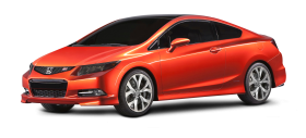 Red Honda Civic Car PNG