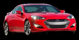 Red Hyundai Genesis Car PNG