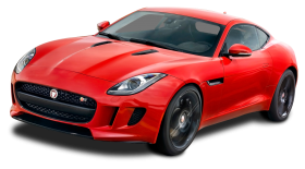 Red Jaguar F Type Coupe Car PNG