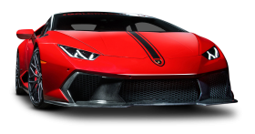 Red Lamborghini Huracan Car PNG