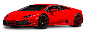 Red Lamborghini Huracan Car PNG