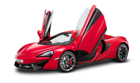 Red McLaren 540C Car PNG
