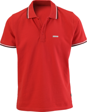 Red Men's Polo Shirt PNG