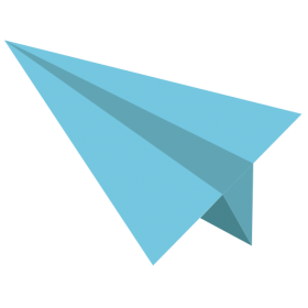 Red Paper Plane PNG