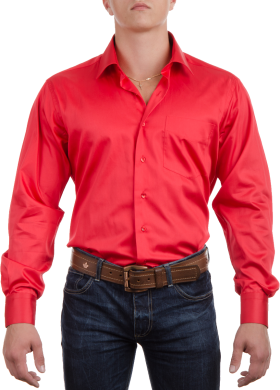 Red Plain Full Shirt PNG