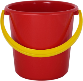 Red PLastic Bucket PNG