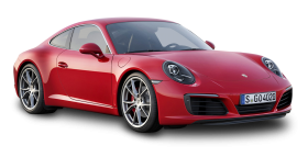 Red Porsche 911 Carrera Car PNG