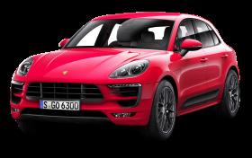 Red Porsche Macan GTS Car PNG