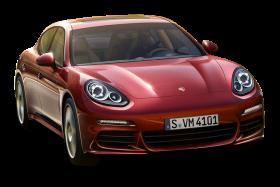 Red Porsche Panamera Car PNG