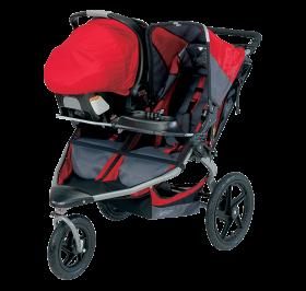 Red Pram Baby PNG