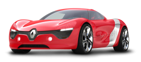 Red Renault DeZir Car PNG
