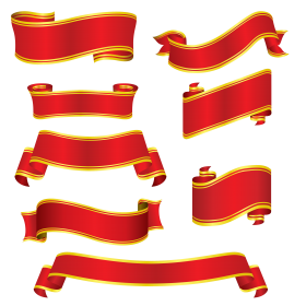 Collection Red Ribbons PNG