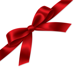 Red Bow for Presents PNG