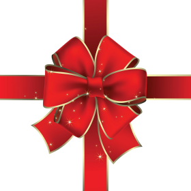 Red Christmas Ribbon PNG