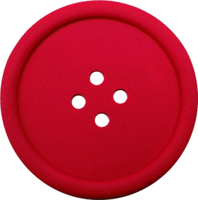 Red Sewing Button With 4 Hole PNG