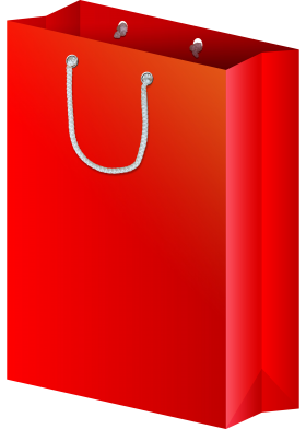 Red Shopping Bag PNG