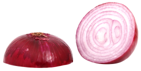 Red Sliced Onion PNG