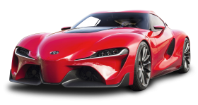 Red Toyota FT 1 Car PNG