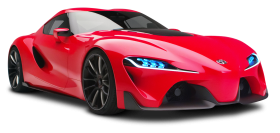 Red Toyota FT1 Sports Car PNG