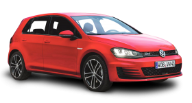 Red Volkswagen Golf GTD Car PNG