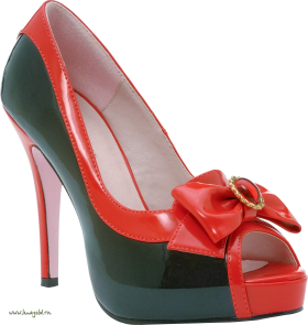 Red Women Shoe PNG